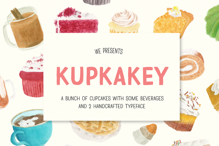 Kupkakey Pack (Fonts + Illustrations)