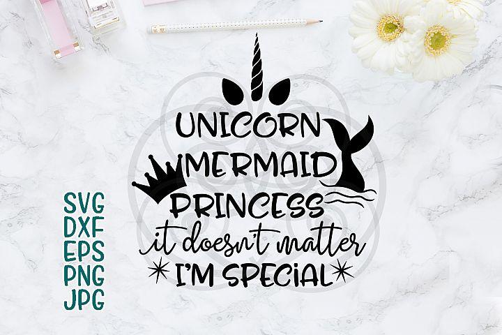 Unicorn Mermaid Princess Words Phrases SVG Cutting file