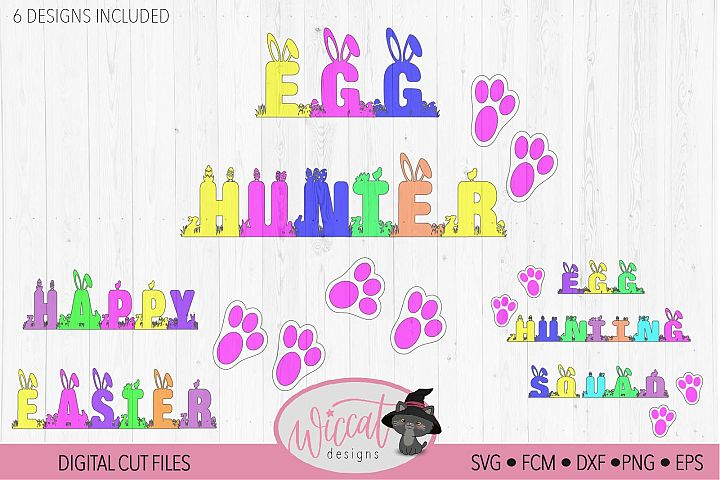 Happy Easter Quote svg, Egg hunter svg, Hunting squad