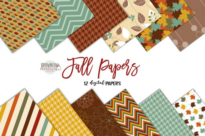 Fall Digital Papers, Fall Backgrounds