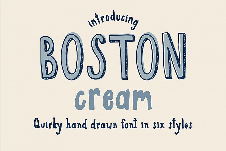 Boston Cream Font Family