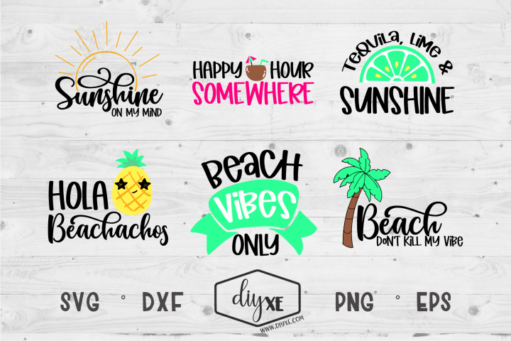 Beach Vibes Only Bundle - A Collection of Beach SVGs