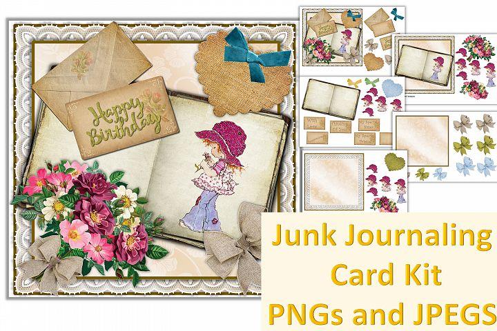 Junk Journaling Card Making Bundle. 40 pieces. CU