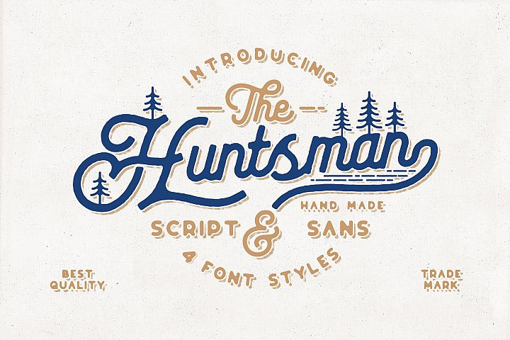 The Huntsman Script and Sans Typeface