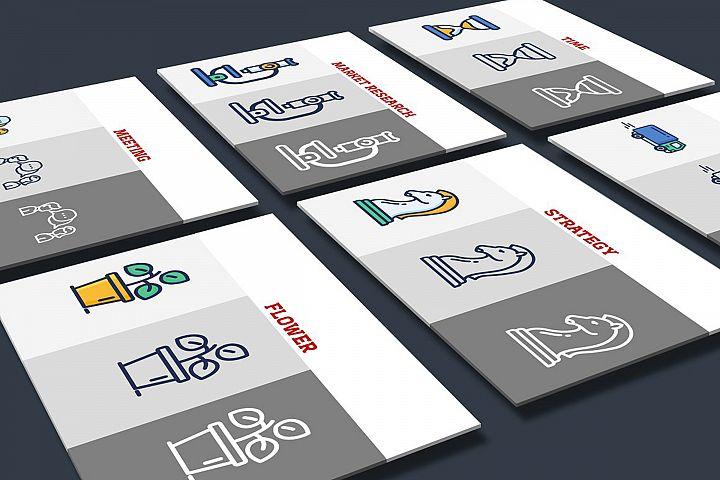 Smart Flat Presentation Icon Set