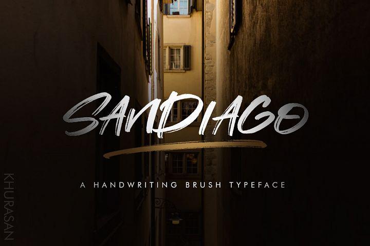 Sandiago Brush Font