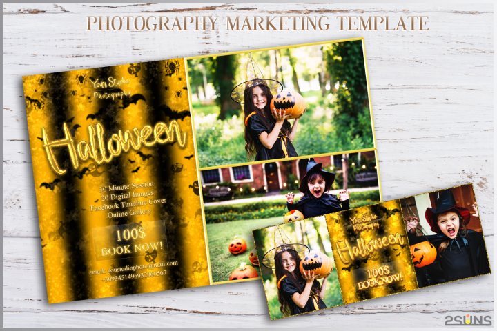 Halloween Mini Session Template facebook timeline