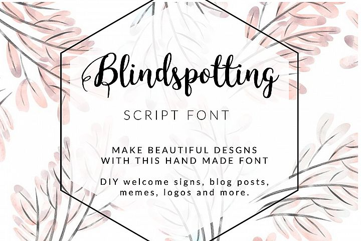 BLINDSPOTTING SCRIPT FONT