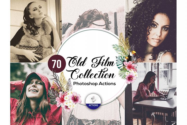 70 Old Film Photoshop Actions Vol2