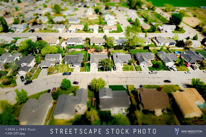 Aerial Streetscape stock photo