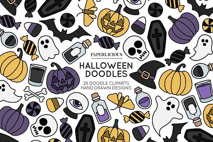 Halloween Doodle Cliparts