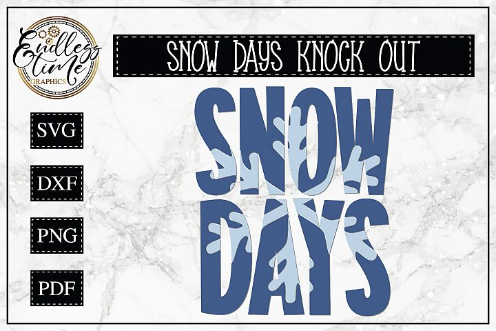 Snow Days Snowflake Knockout - a Cute and Chilly Cut File