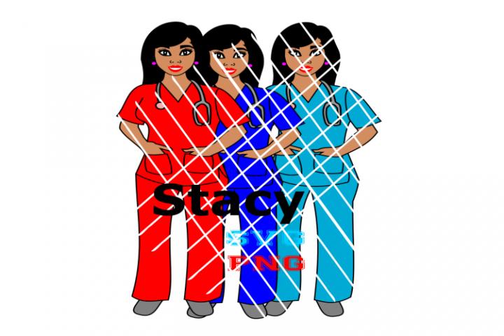 Black nurse Stay svg,Woman svg, Caregiver svg