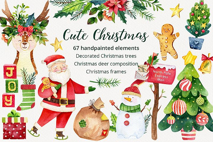 Cute Classic Christmas Set