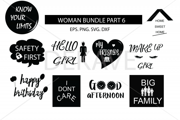SVG Women set 5 , cutting files