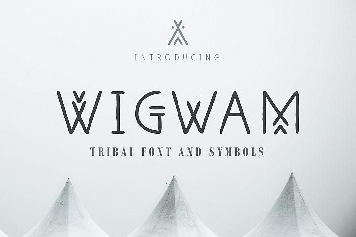 Wigwam - Handwritten Geometric Font