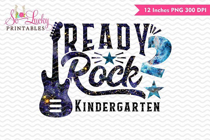 Ready to Rock Kindergarten watercolor sublimation design