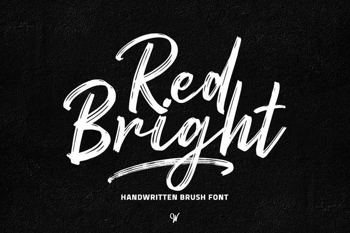 Red Bright - Brush Font