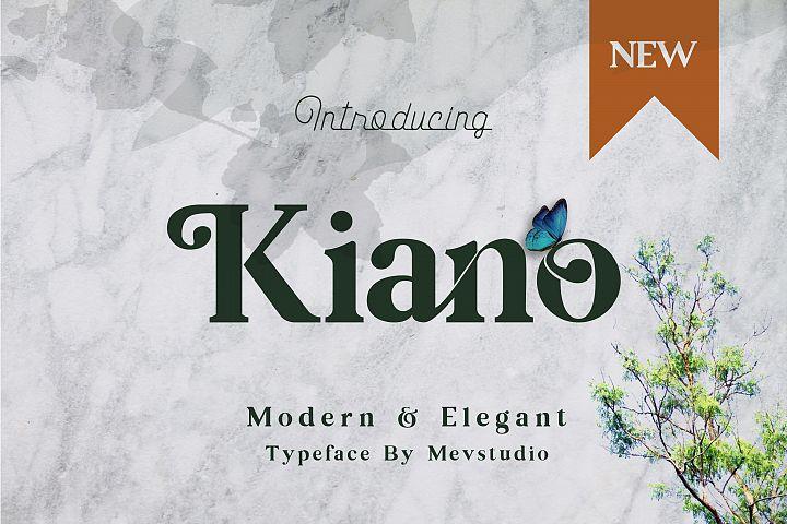 Kiano Modern Serif Font