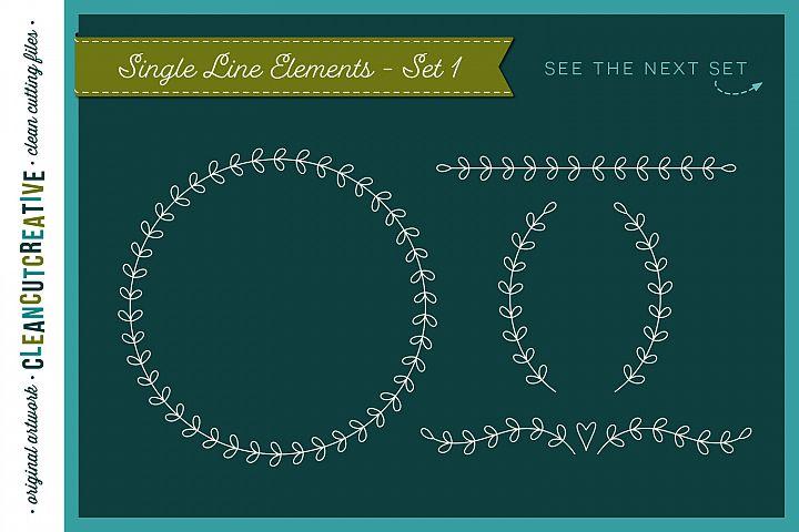 Single Line | Foil Quill | Sketch | Engrave SVG design file