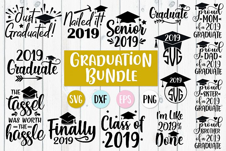 Graduation Bundle - SVG, PNG, DXF, EPS
