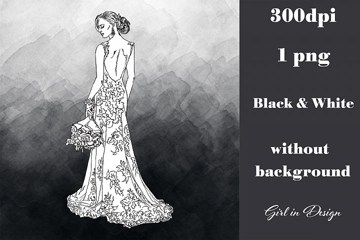 Bride and Groom Wedding Clipart