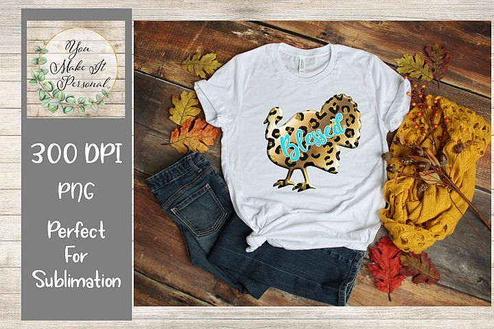 Leopard Turkey, Blessed, Sublimation Graphics,