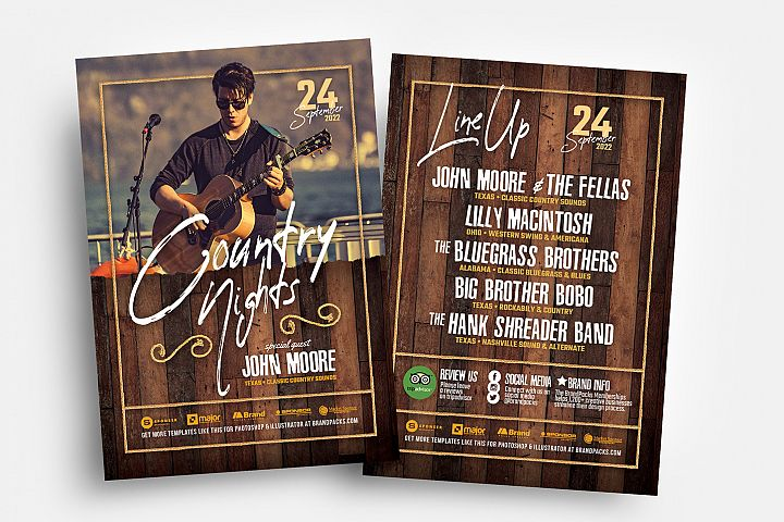 Country & Western Flyer Template