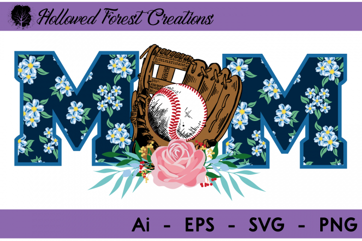 Floral Baseball Mom