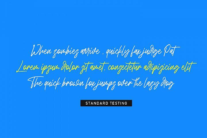 Bandoong | Modern Script Font example image 6