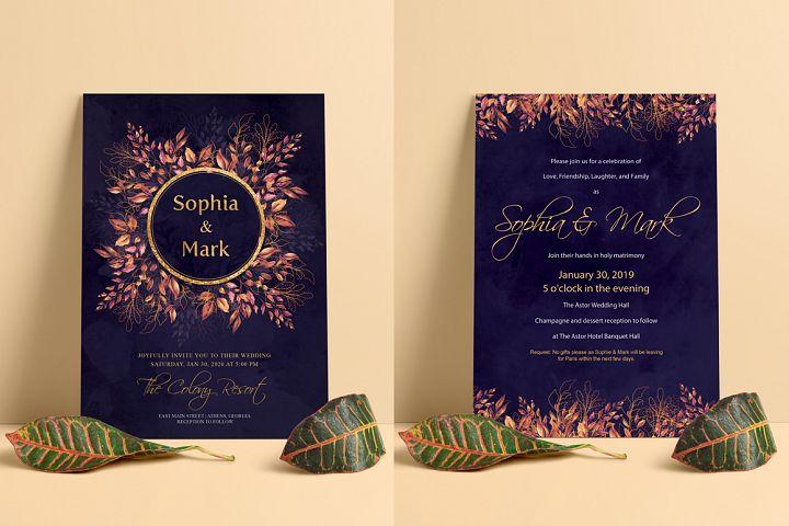 Modern Floral Wedding Invitation Modern Floral Wedding