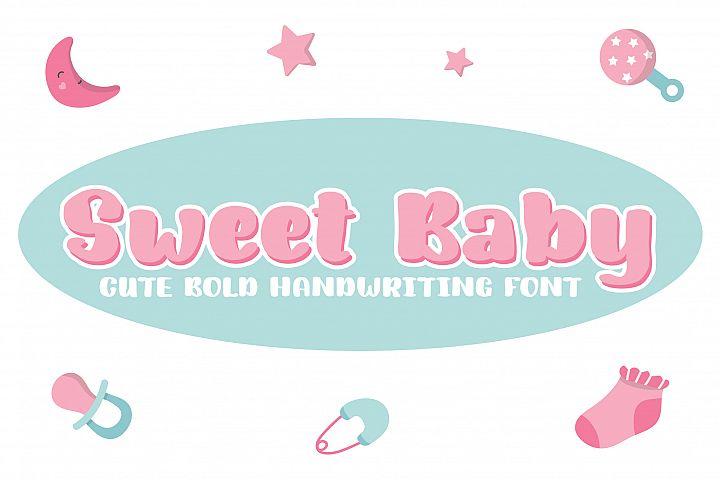Sweet Baby | Bold Handwriting Font