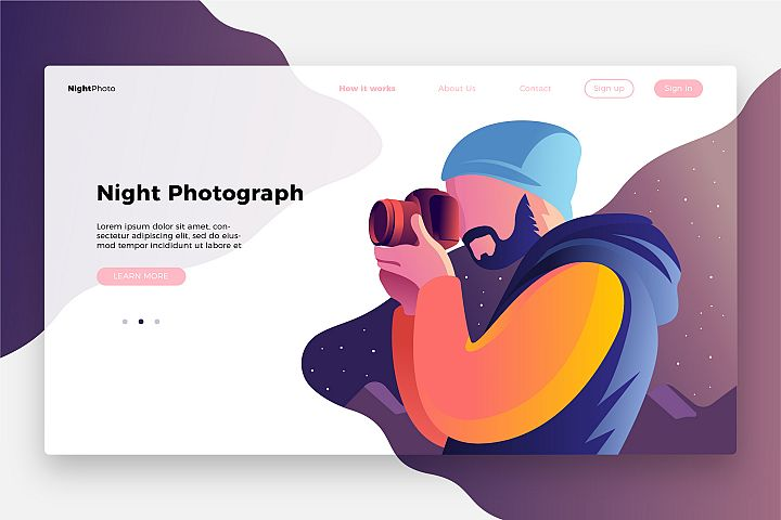 Photography Night-Banner & Landing Page