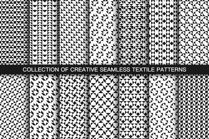 Repeat geometric b&w prints/patterns