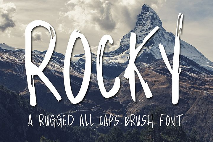 Rocky - Brush Font