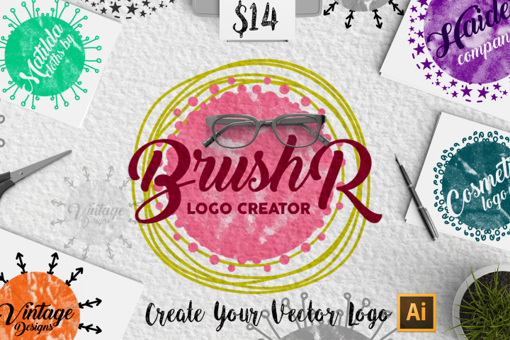 brushR - illustrator Logo Creator