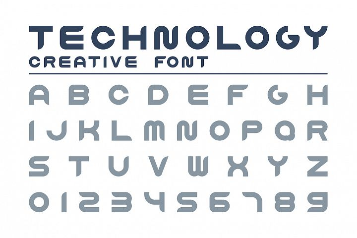 English technology creative alphabet