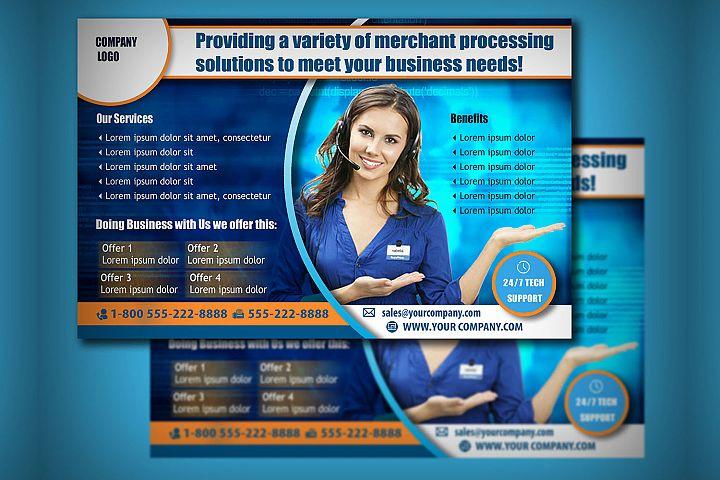BUSINESS HORIZONTAL FLYER TEMPLATE| Sales | Call Center