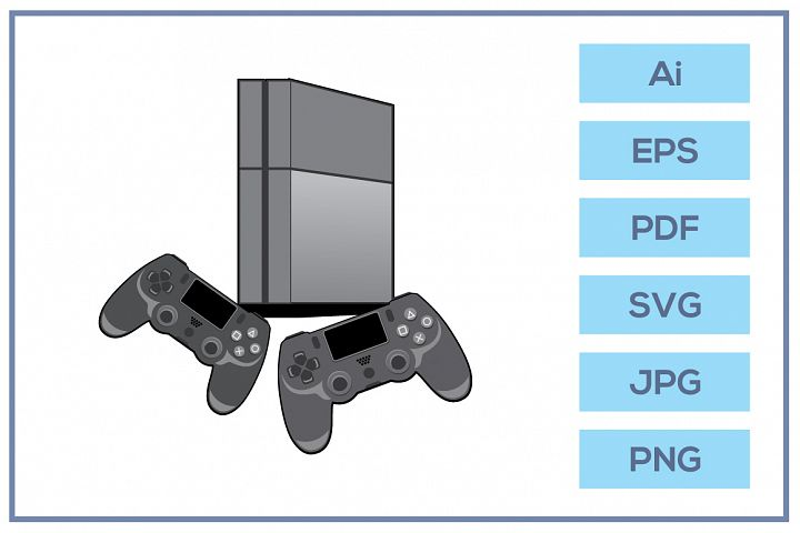 Vector of Play station 4 game console design