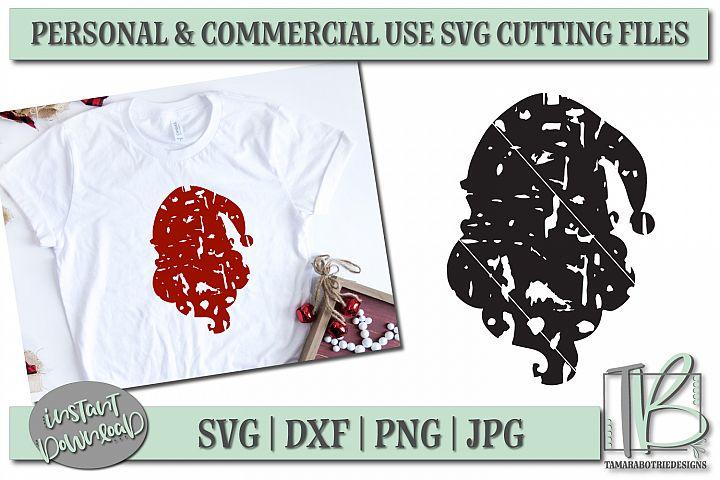 Grunge SVG Cut File, Santa SVG, Christmas Cut file