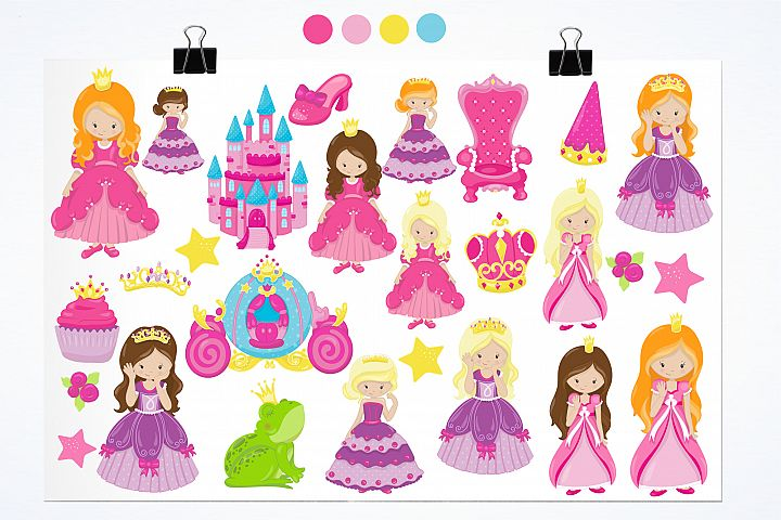 Fairytale Princess  graphics and illustrations - Free Design of The Week Design 1