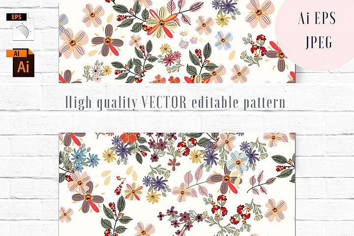 Flora vector seamless pattern