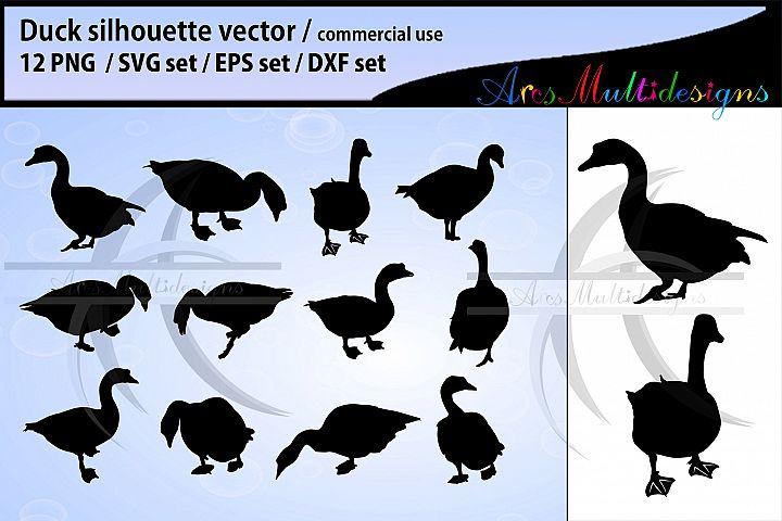 Duck silhouette svg / duck clipart / duck vector