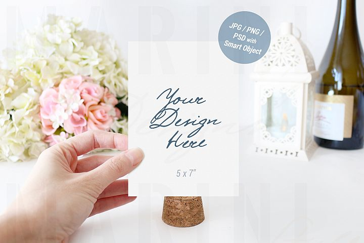 Wedding card mockup, Table Number Mockup, Sign Mockup, 939