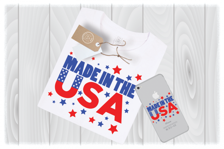 Made in the USA SVG Files America 4th of July Cutting Designs – Independence Day SVG – Memorial Day SVG – Fourth of July SVG