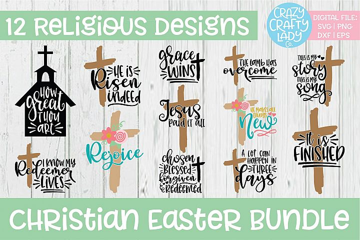 Christian Easter SVG DXF EPS PNG Cut File Bundle