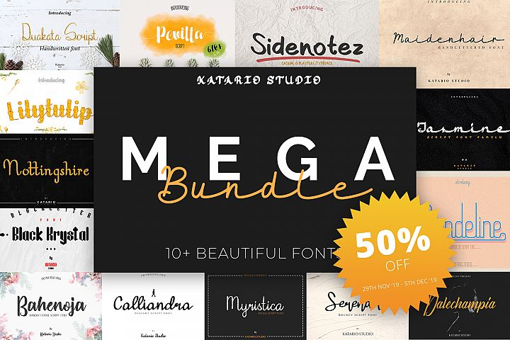 Mega Bundle Font - BLACK FRIDAY SPECIAL