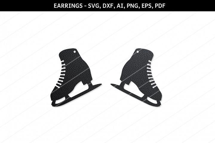 Skate Earrings svg,Skate svg,,Cricut files,SVG cutting files
