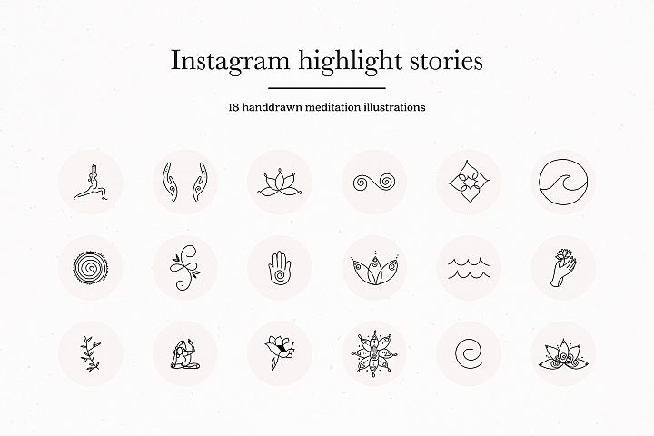 Instagram Meditation Highlights Icons Covers