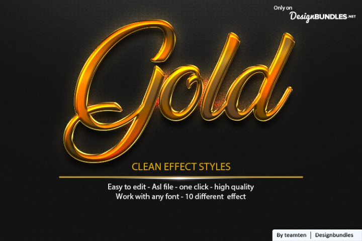 Gold Clean Effect Styles vol 2